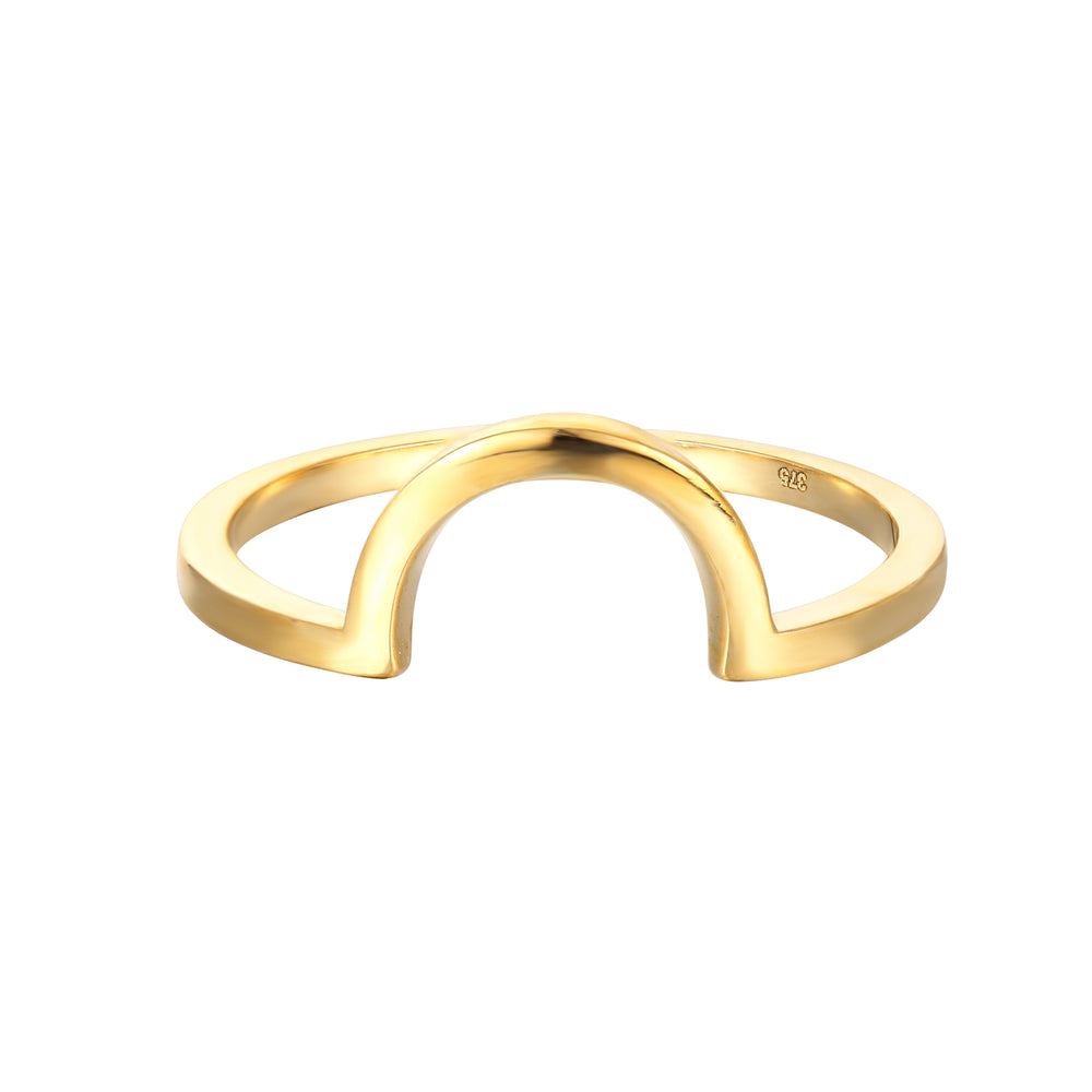 9ct Gold Arched Halo Ring