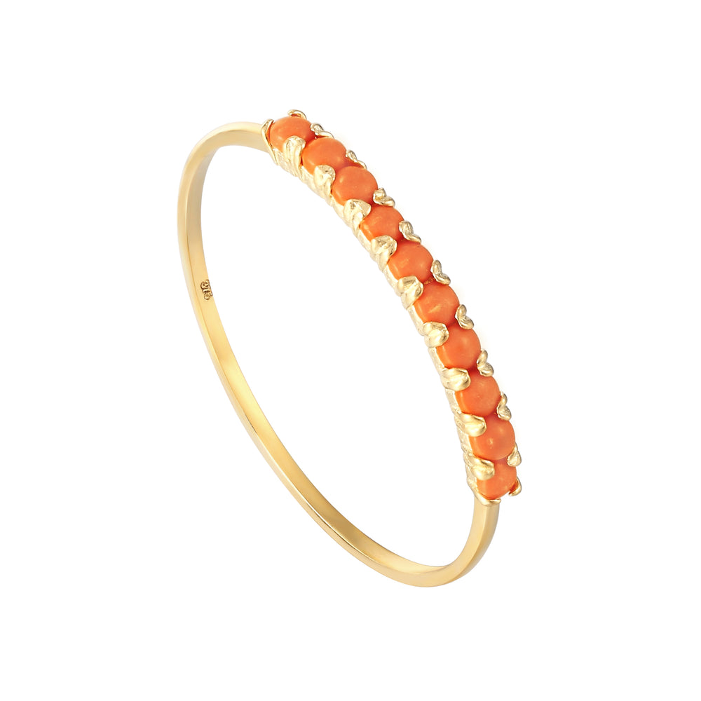 9ct gold Coral ring - seolgold