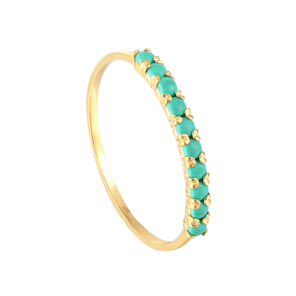 9k gold turquoise ring - seolgold
