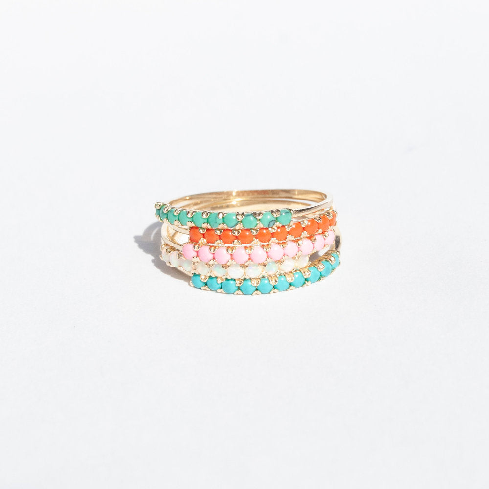 gold rainbow ring - seol-gold