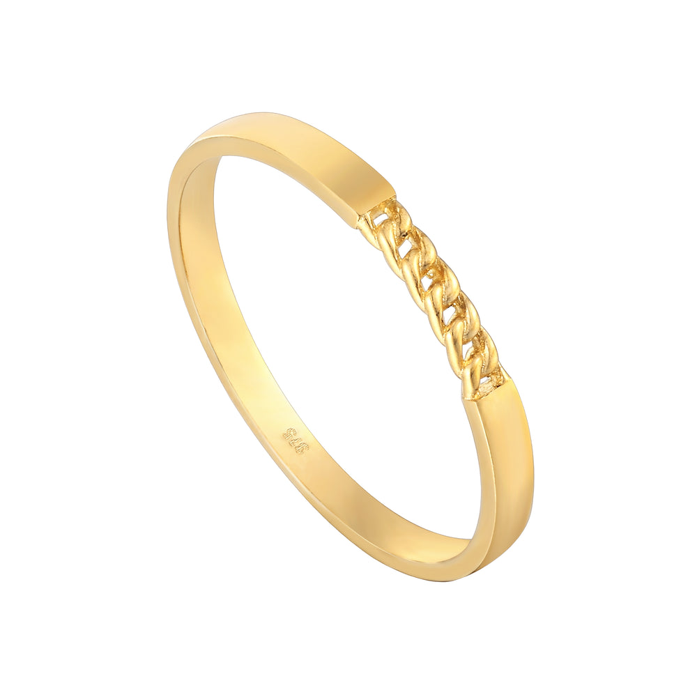 9ct gold chain ring - seolgold
