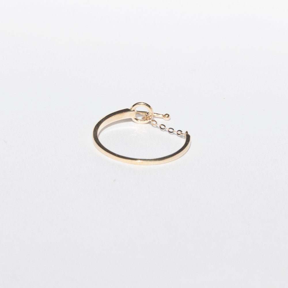 9ct Yellow Gold T-bar Chain Ring - seol-gold