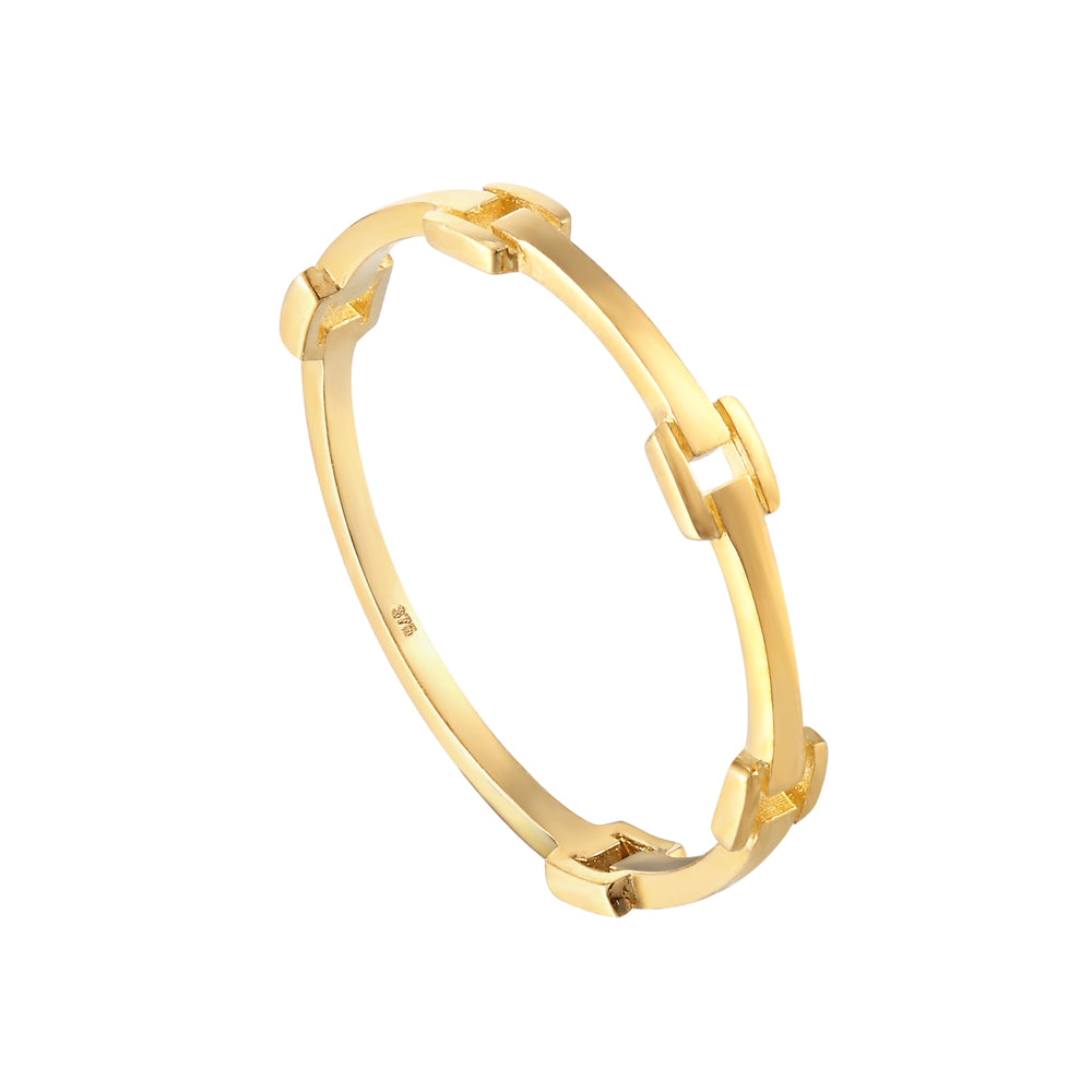 Gold Buckle Ring - seol-gold