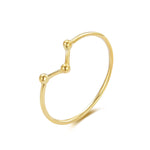 9ct Yellow Gold Ring Bead Dot Ring - seol-gold