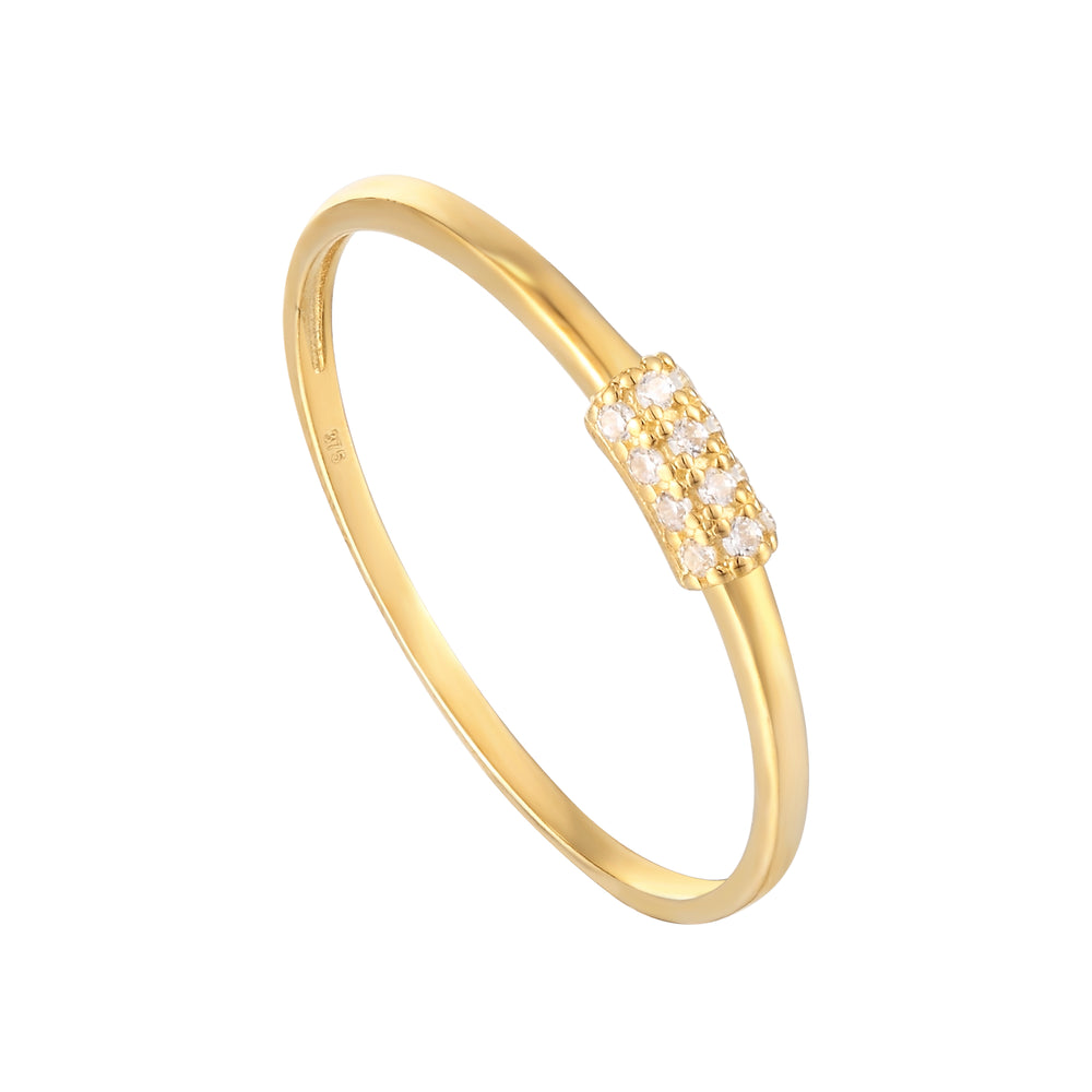 cubic zirconia eternity ring - seol-gold
