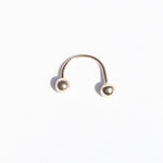 9ct Gold Asymmetric Horseshoe Earring - seol-gold