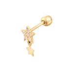gold cartilage stud - seol-gold