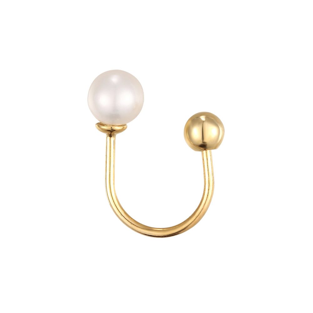 9ct gold cartilage earring - seol-gold