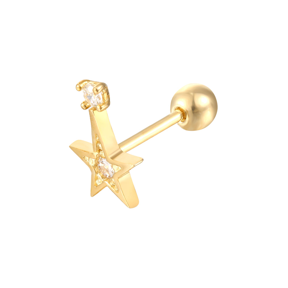 gold cartilage earring - seol-gold