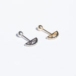 9ct Gold Curved CZ Stud - seol-gold