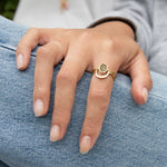 9ct Gold Halo Ring - seol-gold