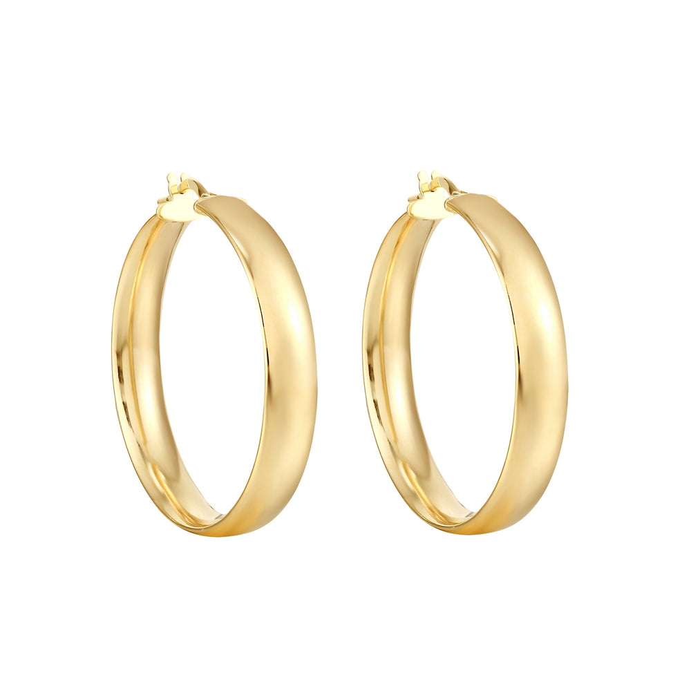 9ct Gold Thick Hoops