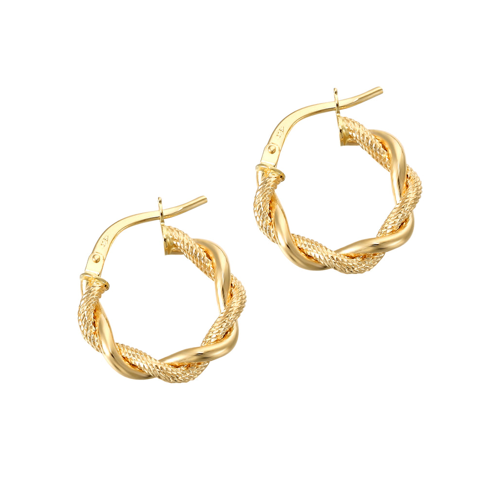 9ct Rope Creoles - seol-gold