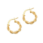 9ct Gold Rope Creoles