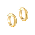 9ct gold big hoops - seolgold