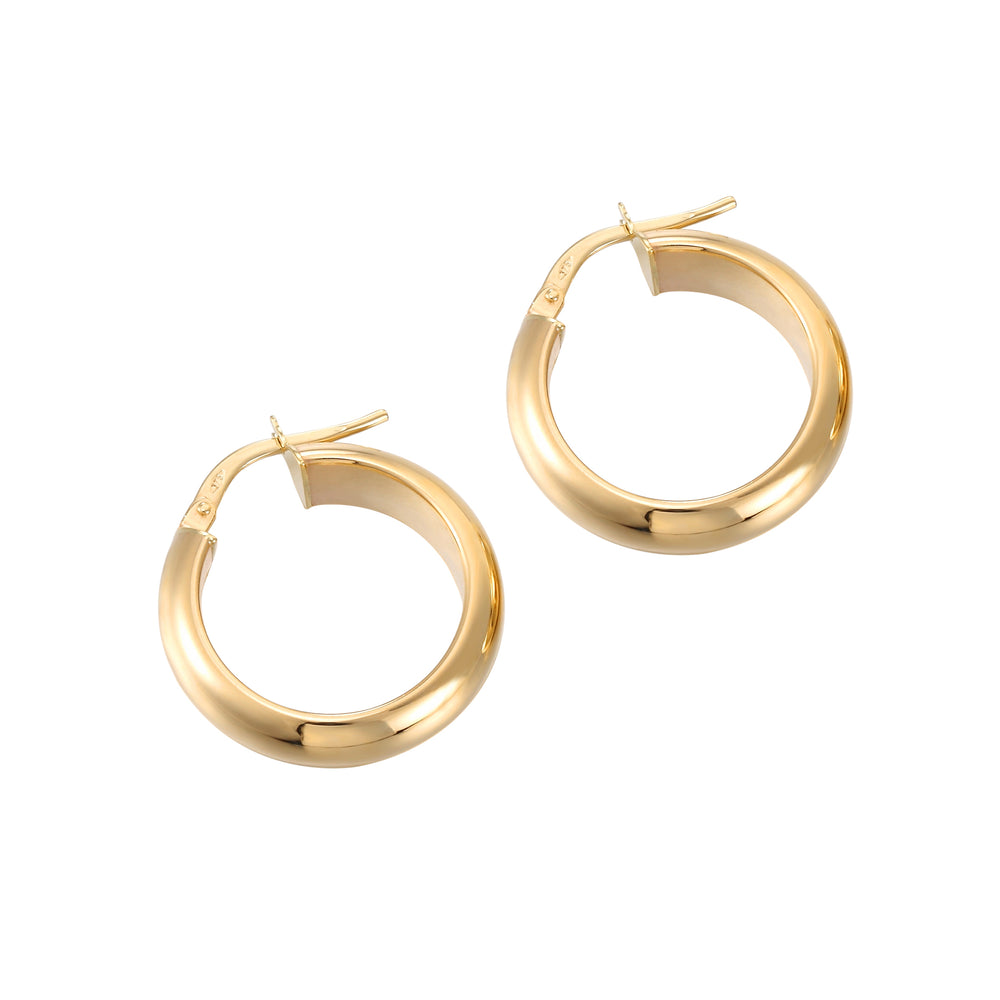 Thick Curved Creole Hoops - seol-gold