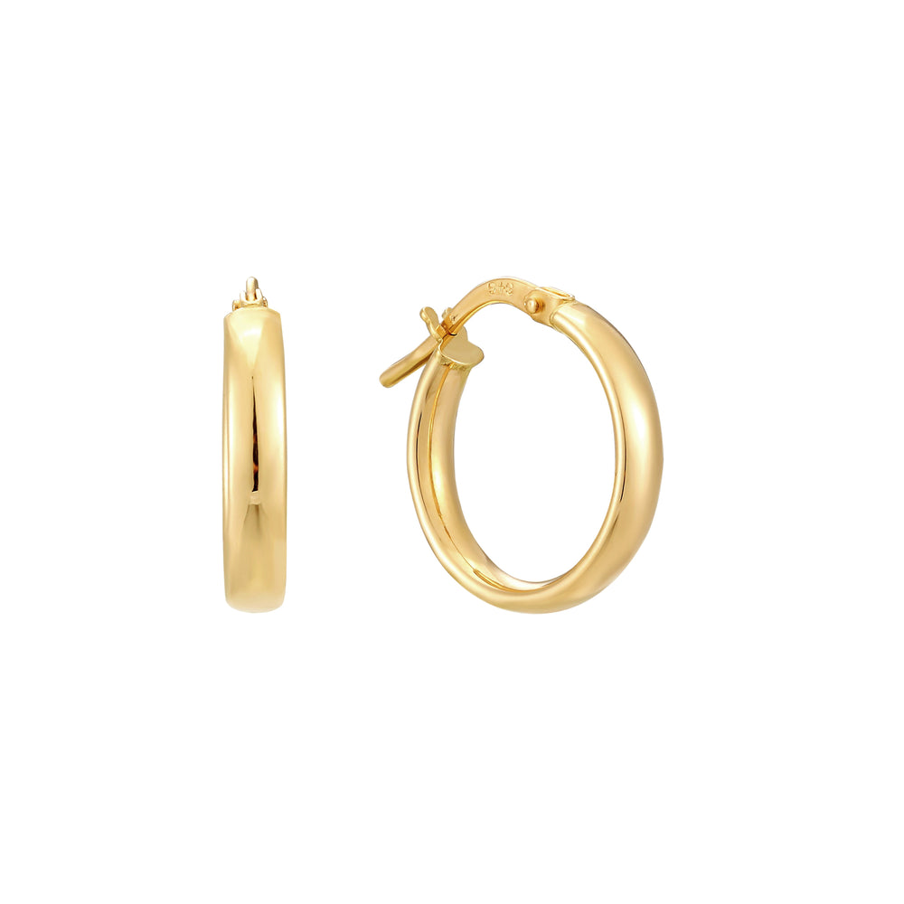 9ct Gold Curved Creoles
