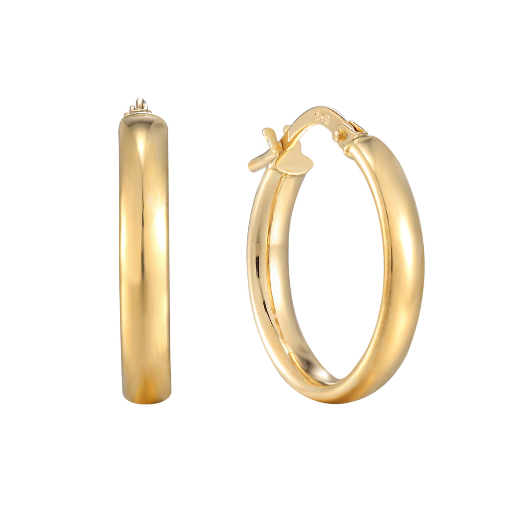9ct gold large hoops - seolgold
