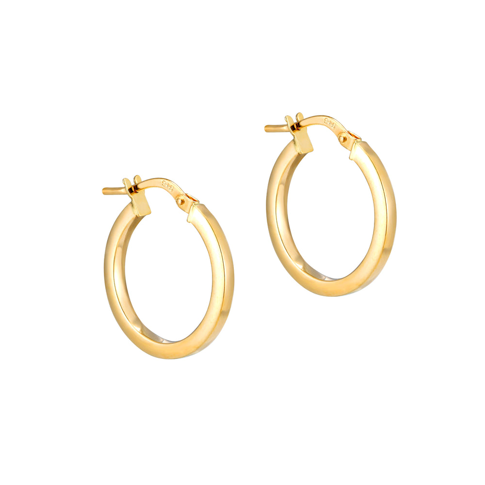 9ct Gold Flat Creoles - seol-gold