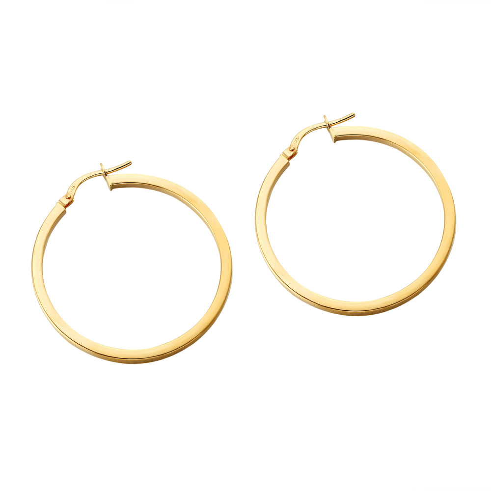 9ct Gold Large Creole Hoops