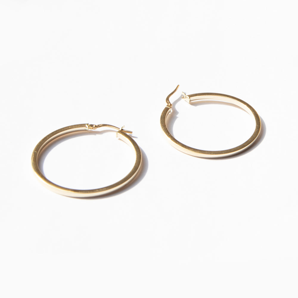 9ct Gold large thin creoles - seol-gold