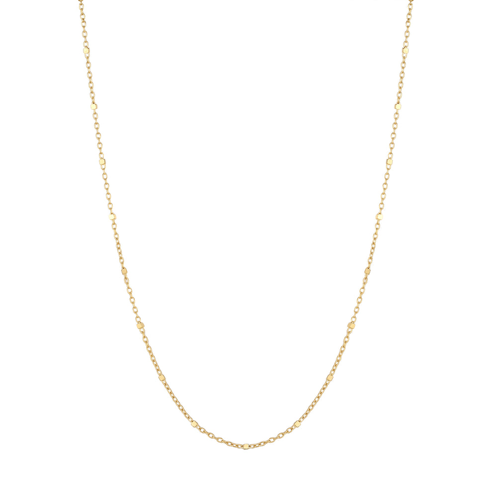 9ct Gold Square Bead Saturno Chain