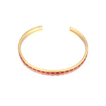 Red Star Enamel Cuff Bangle