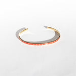 Red Star Enamel Cuff Bangle - seol-gold