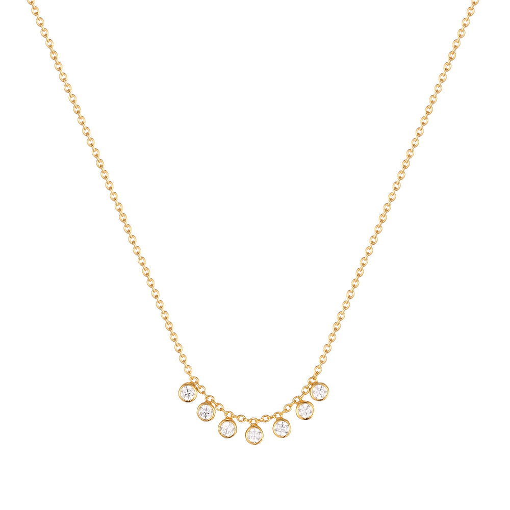 Bezel Charm Drop Necklace