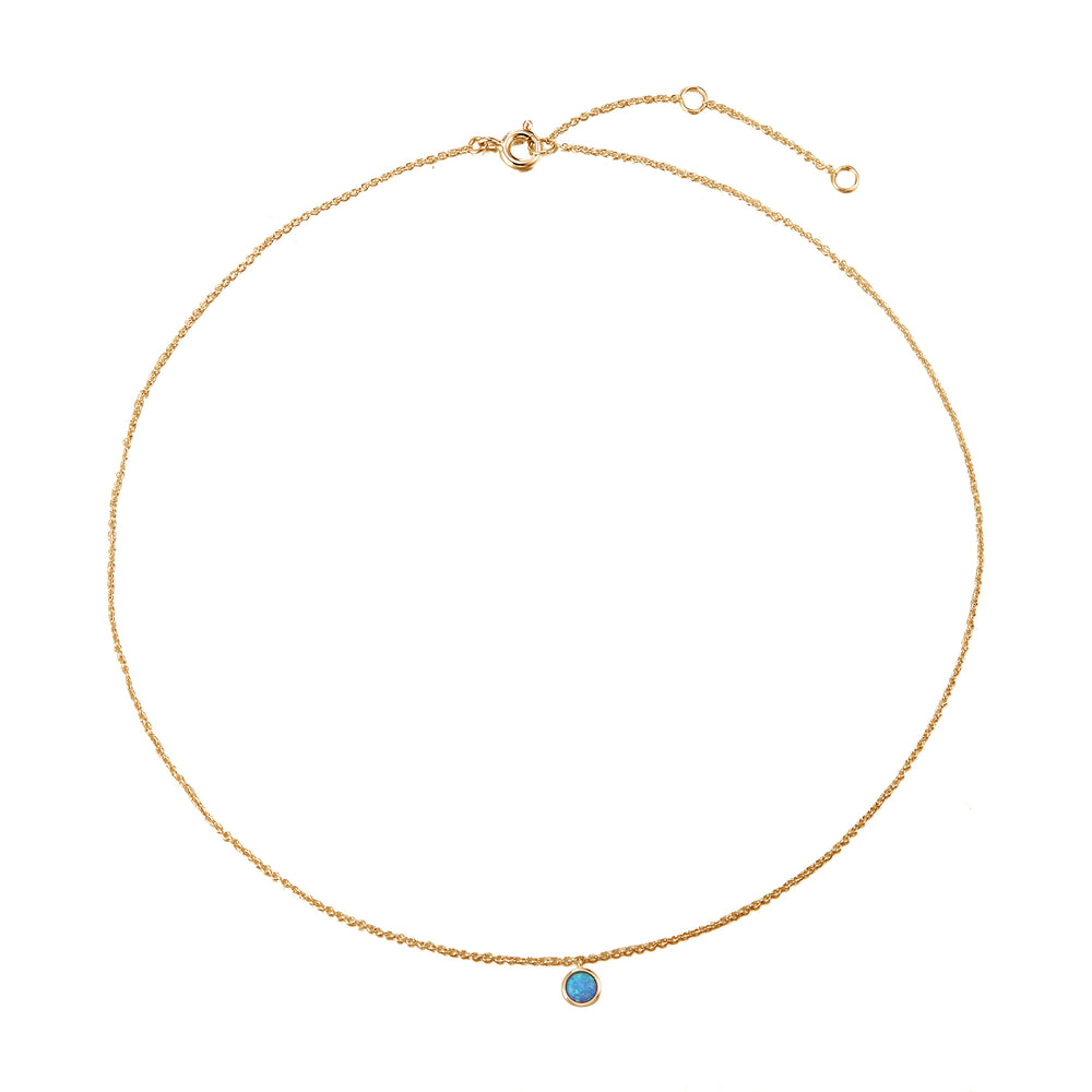 gold opal necklace - seolgold