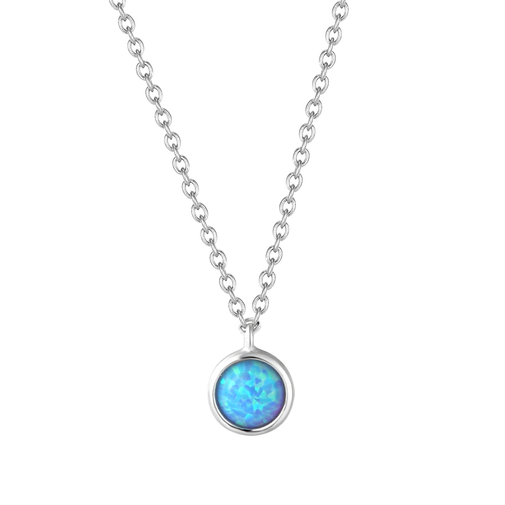 silver opal necklace - seolgold