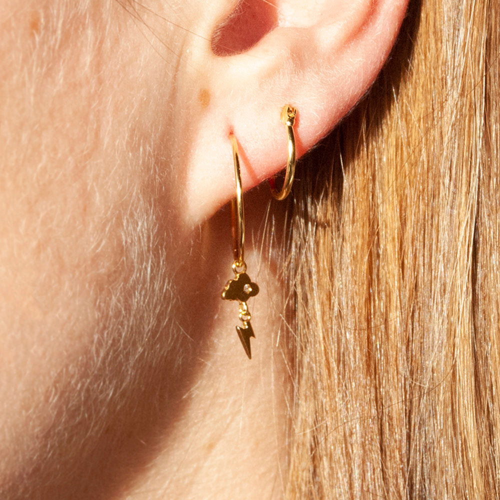 weather earrings - seol-gold
