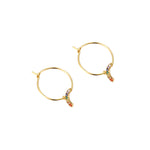 Rainbow Charm gold Earrings - seol-gold