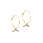 Rainbow Charm Earrings - seol-gold