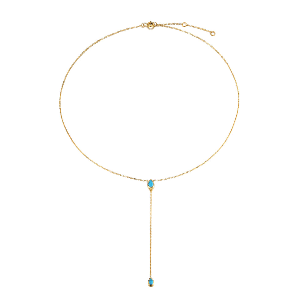 Turquoise Necklace - seol-gold