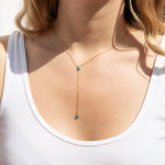 silver lariat necklace - seol-gold
