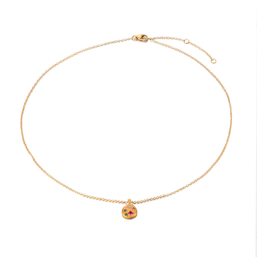 gold rainbow necklace - seol-gold
