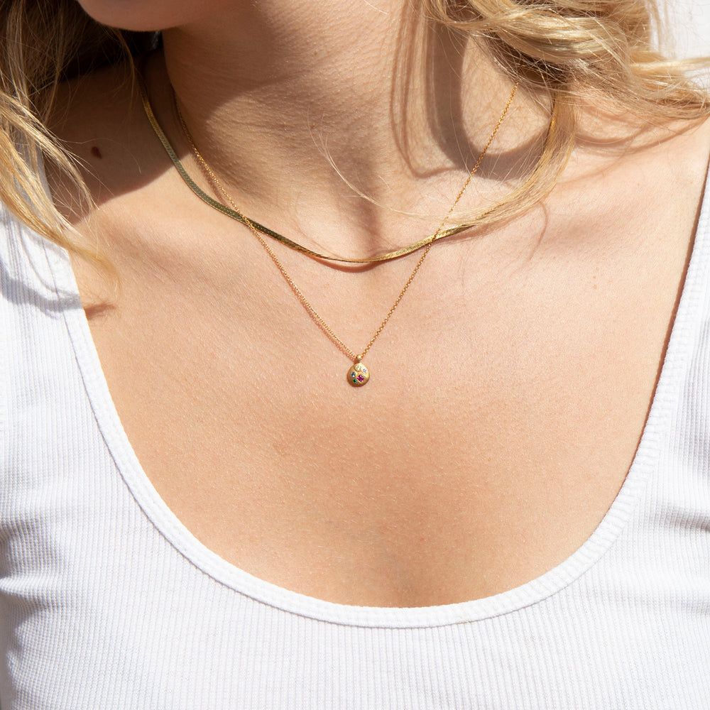 Disc Necklace - seol-gold