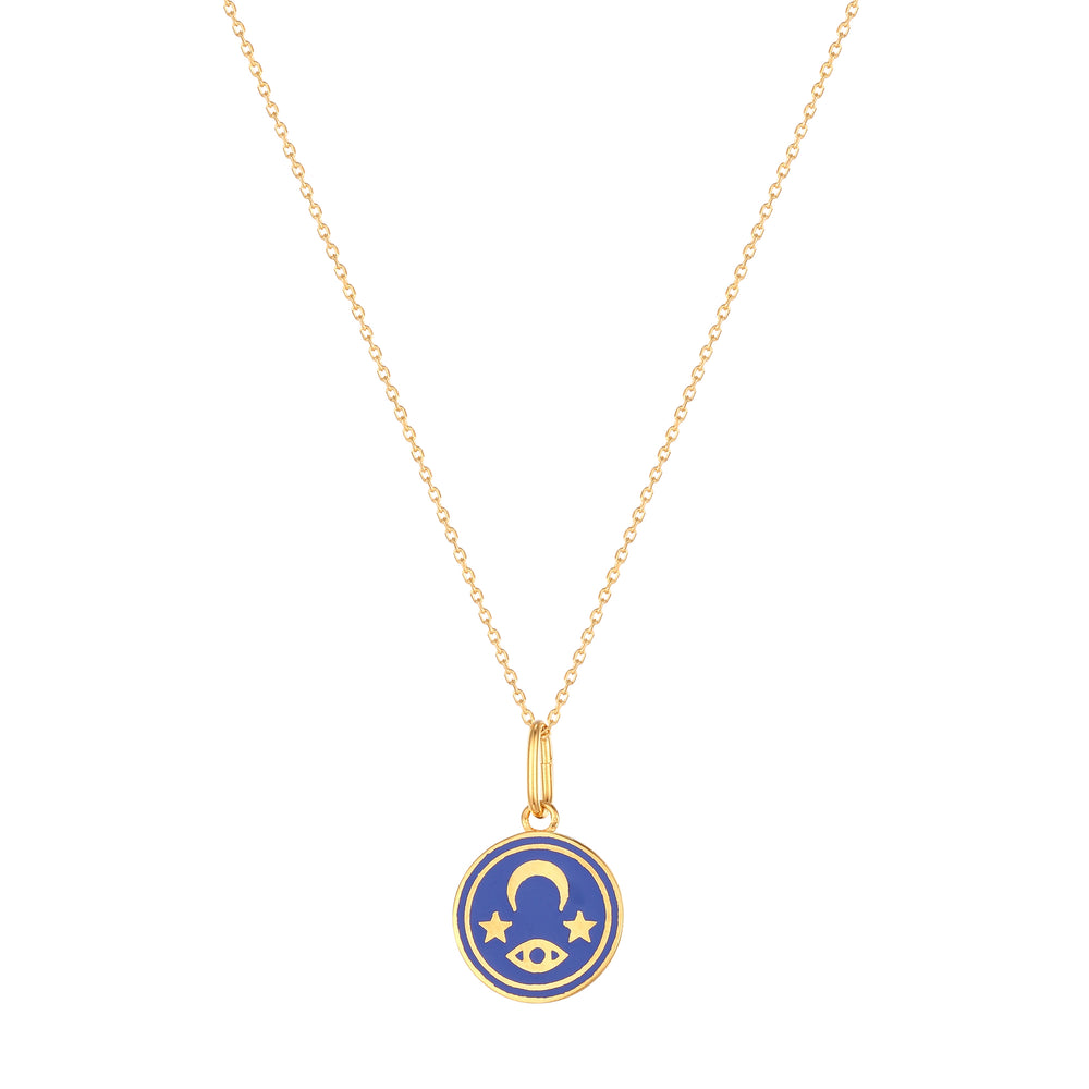Enamel Mystic Pendant Necklace