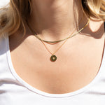 Star Medallion Necklace - seol-gold - gold coin
