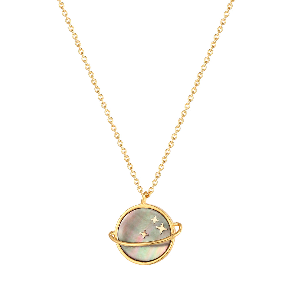 Mother of Pearl Planet Necklace