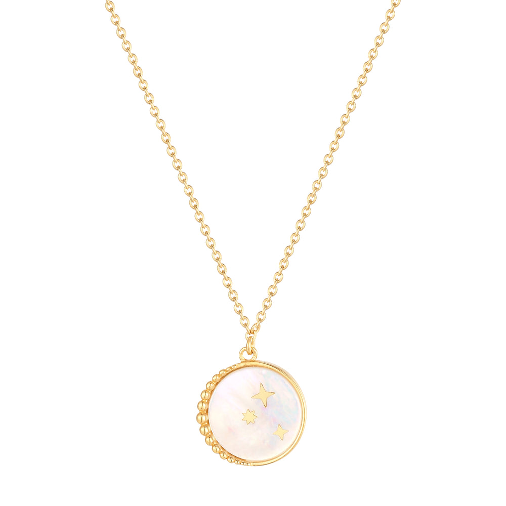 constellation - mother of pearl - neckace - seol-gold