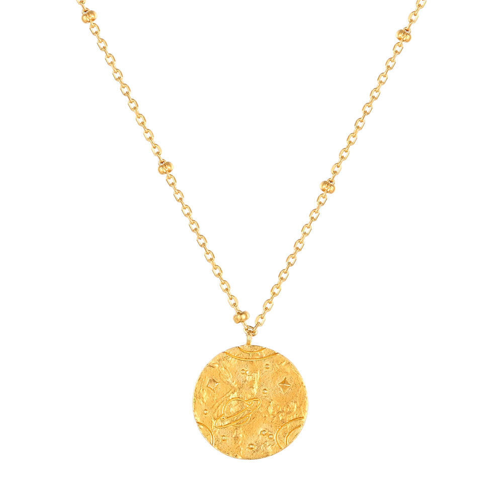 Universe Medallion - seol-gold - gold coin necklace