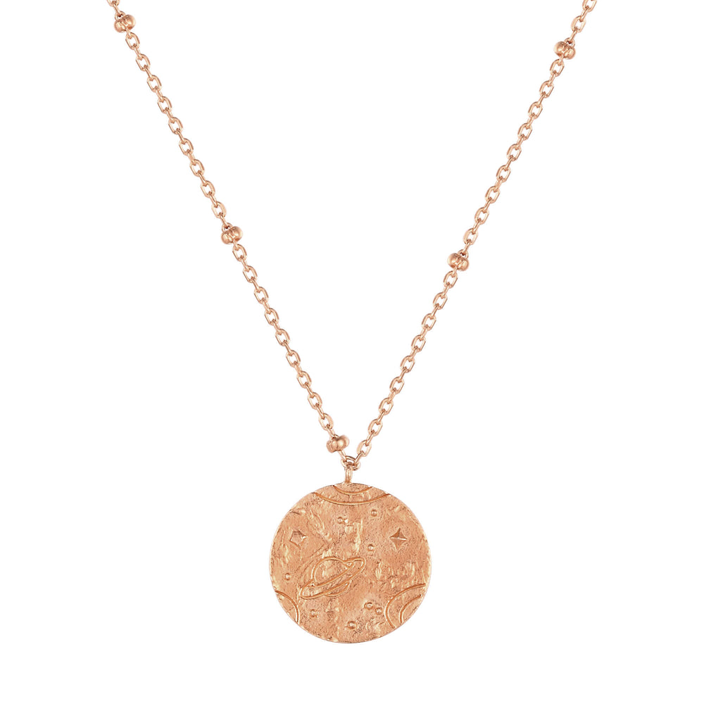 rose gold coin necklace - seol-gold
