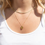 gold world necklace- seol-gold