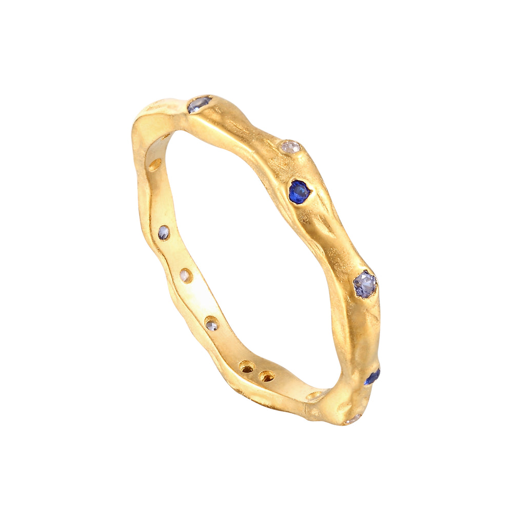 Blue CZ Eternity Ring