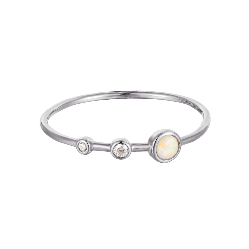 silver opal ring - seol-gold
