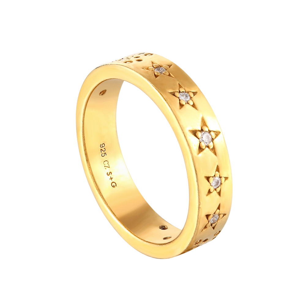 gold star ring - seol-gold