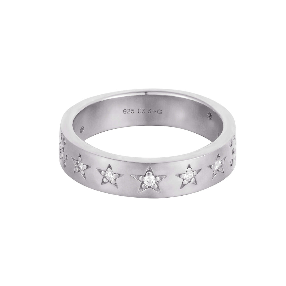 silver star ring - seolgold