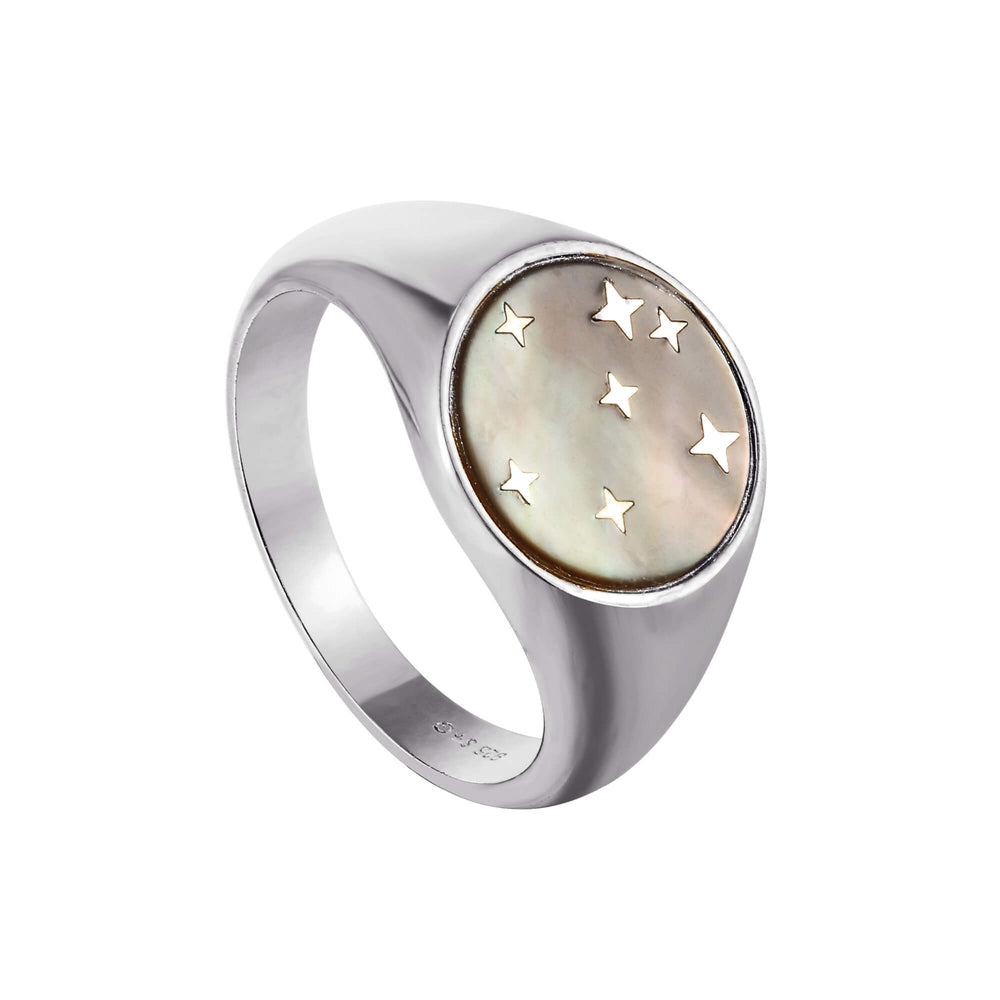 silver mother of pearl ring - seolgold